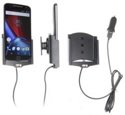 Support voiture Brodit Motorola Moto G4 XT1625 avec chargeur allume cigare - Avec rotule. Avec câble USB. Réf 521909
