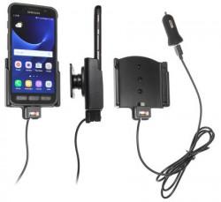 Support voiture Brodit Samsung Galaxy S7 Active avec chargeur allume cigare - Avec rotule. Avec câble USB. Réf 521903