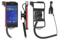Support voiture Brodit Sony Xperia M4 Aqua avec chargeur allume cigare - Avec rotule orientable. Réf 512819