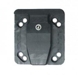 Dispositif d'adaptateur de montage, pièce mâle. Trous AMPS standard. Utilisez le point 215053, 215054 ou 215055. Réf 215060