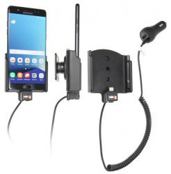 Support voiture Brodit Samsung Galaxy Note 7 avec chargeur allume cigare - Avec rotule orientable. Réf 512915