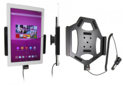 Support voiture  Brodit Sony Xperia Z4 Tablet avec chargeur allume cigare - Avec rotule orientable. Réf 512859