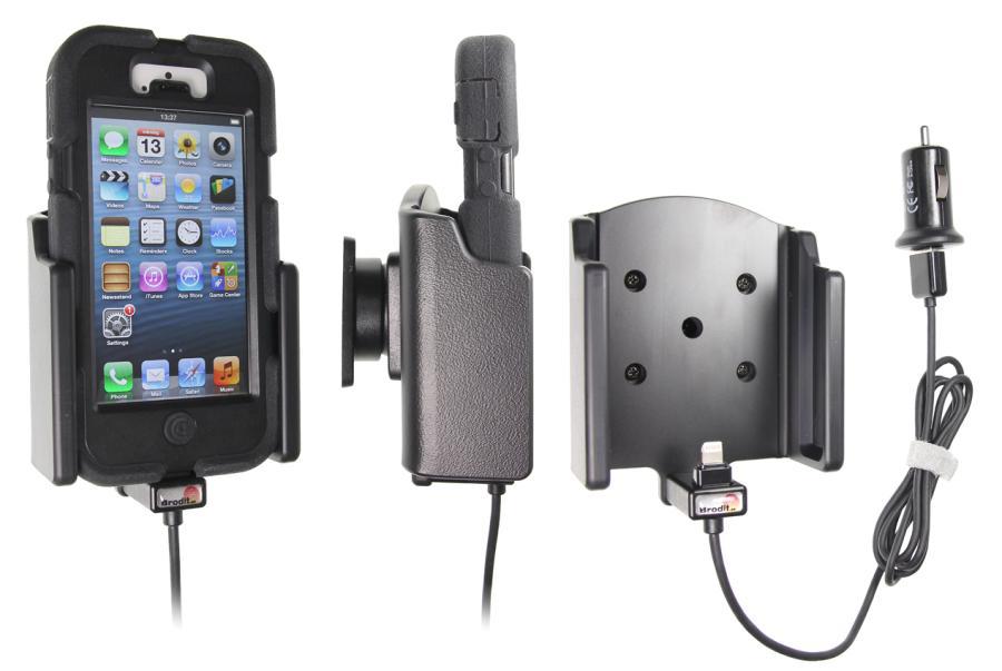 support voiture apple iphone 5 avec chargeur allume cigare t l phones tablettes gps. Black Bedroom Furniture Sets. Home Design Ideas