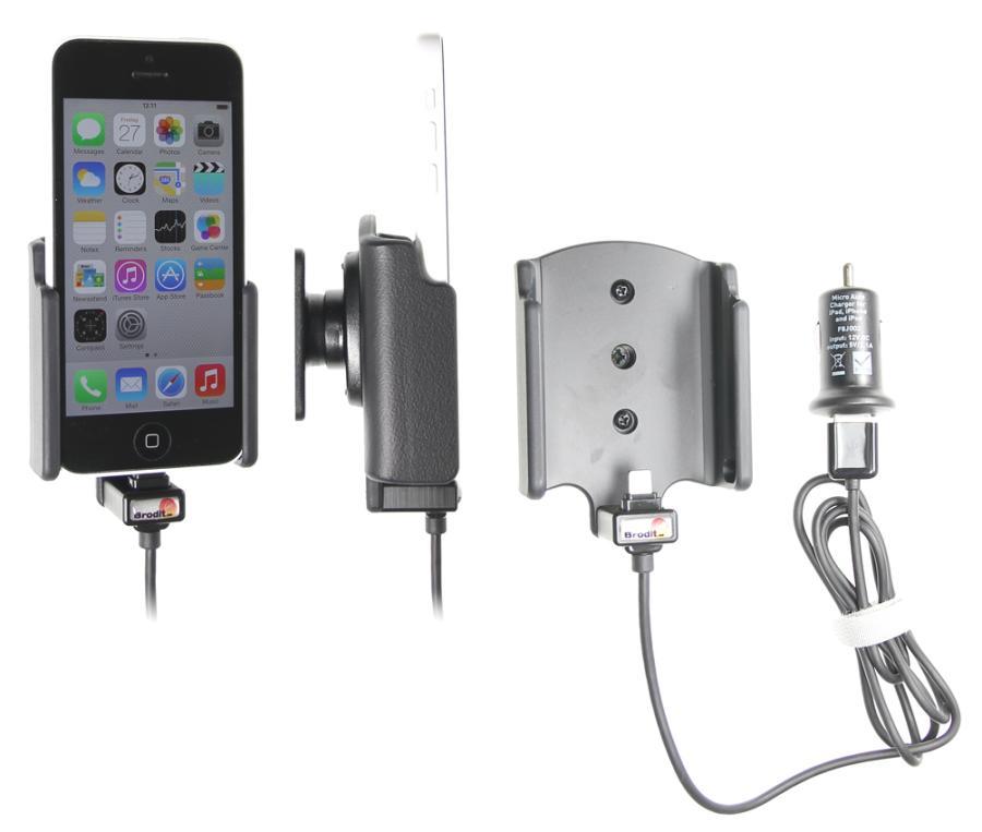 support voiture apple iphone 5c avec chargeur allume cigare t l phones tablettes gps. Black Bedroom Furniture Sets. Home Design Ideas