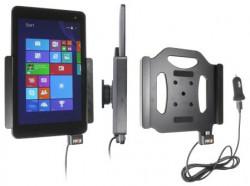 Support voiture Brodit Dell Venue 8 Pro (Modèle 5855) avec chargeur allume cigare - Avec rotule. Avec câble USB. Réf 521856