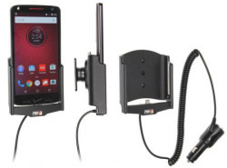 Support voiture Brodit Motorola Droid Turbo 2 avec chargeur allume cigare - Avec rotule orientable.
