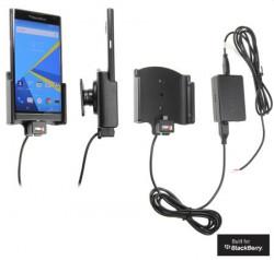 Support voiture Brodit Blackberry Priv installation fixe - Avec rotule, connectique Molex. Chargeur 2A.