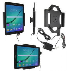 Support voiture  Brodit Samsung Galaxy Tab S2 9.7  installation fixe - Avec rotule, connectique Molex. Réf 513782