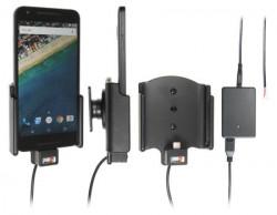 Support voiture  Brodit LG Nexus 5X  installation fixe - Avec système de connecteur Molex. Chargeur 2A. Avec rotule. Réf 513817
