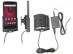 Support voiture Brodit Motorola Droid Turbo 2 installation fixe - Avec rotule, connectique Molex. Chargeur 2A.