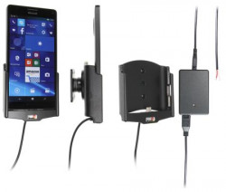 Support voiture  Brodit Nokia Lumia 950 XL installation fixe - Avec rotule, connectique Molex. Chargeur 2A.