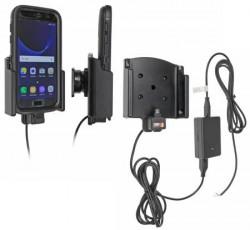 Support voiture Brodit Samsung Galaxy S7 avec étui OTTERBOX DEFENDER UNIQUEMENT installation fixe - Avec rotule, connectique Molex. Chargeur 2A. Réf 513891