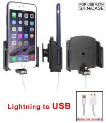 Support voiture Apple iPhone 6Plus/6SPlus/7Plus/8Plus/8/X/XR/Xs/Xs Max/11 pour fixation cable - Utilisation avec câble Apple Lightning d'origine. Pour appareil avec étui de dimensions: Larg: 75-89 mm, épaiss.: 2-10 mm. Réf 514667