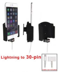 Support voiture  Brodit Apple iPhone 6S Plus  pour fixation cable - Pour une utilisation avec Apple foudre originale câble adaptateur 30 broches. Avec rotule. Surface