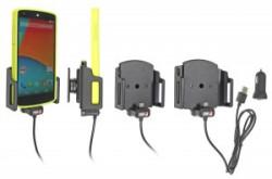Support ajustable Brodit avec chargeur allume-cigare pour appareil avec ou sans étui à micro USB (différentes tailles disponibles)