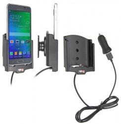 Support voiture  Brodit Samsung Galaxy Alpha  avec chargeur allume cigare - Avec rotule. Avec câble USB. Réf 521658