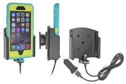 Support voiture Brodit Apple iPhone 6 avec chargeur allume cigare - Avec rotule. Avec câble USB. Chargeur approuvé par Apple. UNIQUEMENT pour étui Otterbox Defender (non livré) étui. Réf 521732