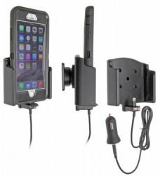 Support voiture  Brodit Apple iPhone 6 Plus  avec chargeur allume cigare - Avec rotule. Avec câble USB. Chargeur approuvé par Apple. Pour  étui Otterbox Defender (non livré) étui. Réf 521741