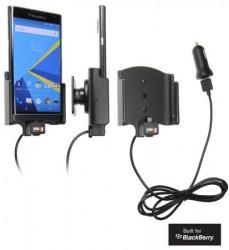 Support voiture Brodit Blackberry Priv avec chargeur allume cigare - Avec rotule. Avec câble USB.