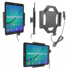 Support voiture  Brodit Samsung Galaxy Tab S2 9.7  avec chargeur allume cigare - Avec rotule. Avec câble USB. Réf 521782