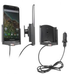 Support voiture  Brodit Motorola X Pure Edition avec chargeur allume cigare - Avec rotule. Avec câble USB.