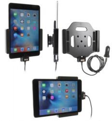 Support voiture  Brodit Apple iPad Mini 4/5  avec chargeur allume cigare - Avec rotule. Avec câble USB. Chargeur approuvé par Apple. Réf 521793