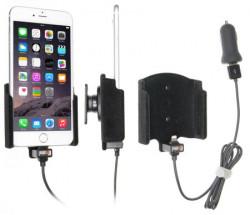 Support voiture Brodit Apple iPhone 6S Plus, 7 Plus, 8 Plus, Xs Max avec chargeur allume cigare - Avec rotule. Avec câble USB. Chargeur approuvé par Apple. Surface