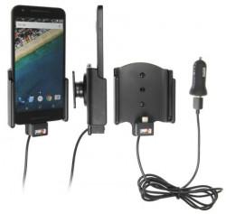 Support voiture  Brodit LG Nexus 5X  avec chargeur allume cigare - Avec chargeur voiture USB. Avec rotule. Réf 521817
