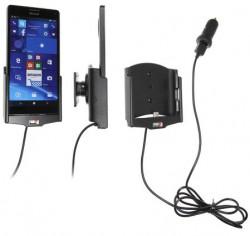 Support voiture  Brodit Nokia Lumia 950 XL avec chargeur allume cigare - Avec rotule. Avec câble USB.