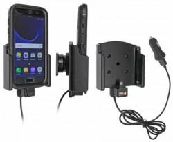 Support voiture Brodit Samsung Galaxy S7 UNIQUEMENT AVEC ETUI OTTERBOX DEFENDER avec chargeur allume cigare - Avec rotule. Avec câble USB. Réf 521891