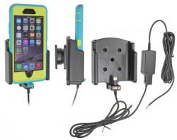 Support voiture  Brodit Apple iPhone 6  installation fixe - Avec rotule. Chargeur approuvé par Apple. Pour  étui Otterbox Defender (non livré) étui. Réf 527732