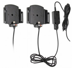 Support ajustable Brodit pour appareil avec ou sans étui installation fixe et connecteur micro USB-C. Réf 527840
