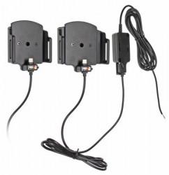 Support ajustable Brodit pour appareil avec ou sans étui avec connecteur micro USB-C pour installation fixe. Réf 527841