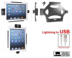 Support voiture Brodit Apple iPad antivol. Support actif avec cig-plug et le câble USB. Avec rotule. 2 clefs. Réf 535494