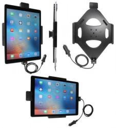 Support voiture Brodit Apple iPad Pro avec chargeur allume cigare - Avec rotule. Avec câble USB. Verrouillage renforcé