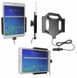 Support voiture  Brodit Samsung Galaxy Tab A 9.7  avec chargeur allume cigare - Avec rotule. Avec câble USB. Réf 521737
