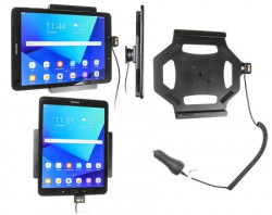 Support tablette Samsung Galaxy Tab S3 9,7 avec chargeur allume-cigare. Réf Brodit 512968