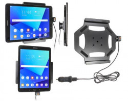 Support tablette Samsung Galaxy Tab S3 9,7 avec cable USB et adaptateur allume-cigare. Réf Brodit 521968