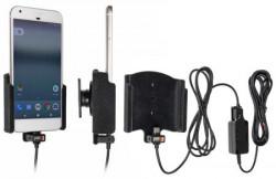 Support voiture Brodit Google Pixel installation fixe - Avec rotule, connectique Molex. Chargeur 2A. Réf 527924