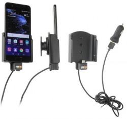 Support voiture Huawei P10 avec adaptateur allume-cigare et cable USB. Réf Brodit 521956