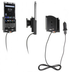Support voiture BlackBerry KEYone avec adaptateur allume-cigare et cable USB. Réf Brodit 521992