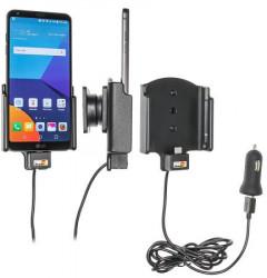Support voiture LG G6 avec adaptateur allume-cigare et cable USB. Réf Brodit 521962