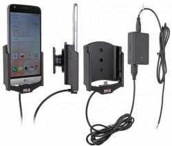 Support voiture Brodit LG G5 installation fixe - Avec rotule, connectique Molex. Chargeur 2A. Réf 513872