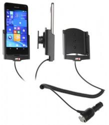 Support voiture Brodit Microsoft Lumia 650 avec chargeur allume cigare - Avec rotule orientable. Réf 512873