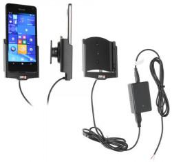 Support voiture Brodit Microsoft Lumia 650 installation fixe - Avec rotule, connectique Molex. Chargeur 2A. Réf 513873