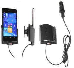 Support voiture Brodit Microsoft Lumia 650 avec chargeur allume cigare - Avec rotule. Avec câble USB. Réf 521873