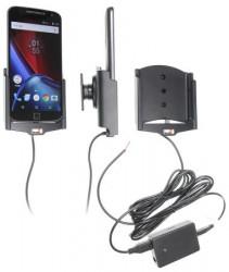 Support voiture Brodit Motorola Moto G4 XT1625 installation fixe - Avec rotule, connectique Molex. Chargeur 2A. Réf 513909