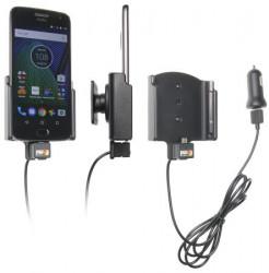 Support téléphone voiture Motorola Moto G5 Plus avec adaptateur allume cigare et câble USB. Réf 521957