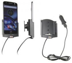Support voiture Brodit Motorola Moto Z Droid avec chargeur allume cigare - Avec rotule. Avec câble USB. Réf 521913
