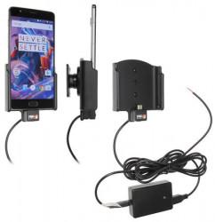 Support voiture Brodit OnePlus 3 installation fixe - Avec rotule, connectique Molex. Chargeur 2A. Réf 513905